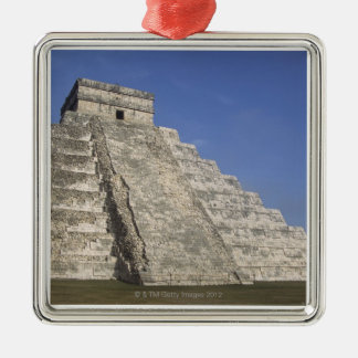 Mayan ruins at Chichen Itza, Kukulcans Pyramid Metal Ornament