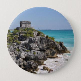 Mayan Ruins in Tulum Mexico 10 Cm Round Badge