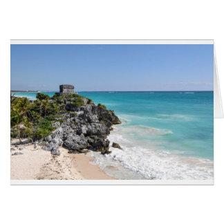 Mayan Ruins in Tulum Mexico Card