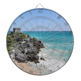 Mayan Ruins in Tulum Mexico Dartboard