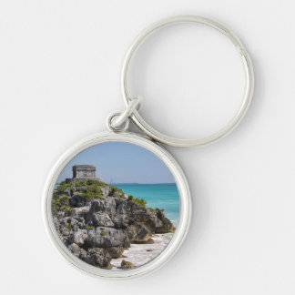 Mayan Ruins in Tulum Mexico Key Ring