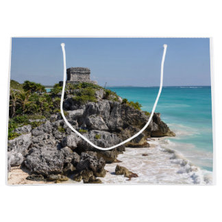 Mayan Ruins in Tulum Mexico Large Gift Bag