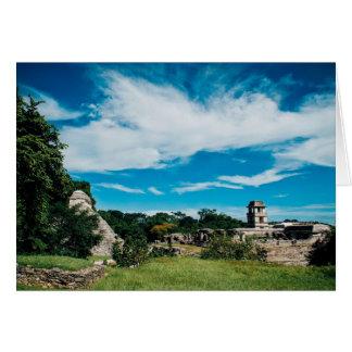 Mayan Ruins Of Palenque Card