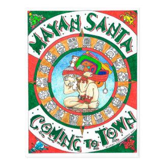 Mayan Santa Postcard