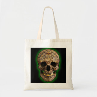 Mayan Skull by Hellmet design District Budget Tote Bag
