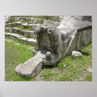 Mayan Snake Poster