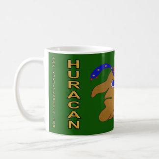 MAYAN SPIRIT HURACAN- MIDNIGHT GREEN- CANCUN COFFEE MUG