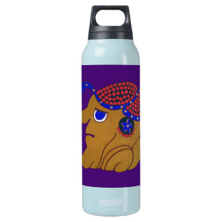 MAYAN SPIRIT HURACAN- MIDNIGHT PURPLE-CANCUN INSULATED WATER BOTTLE