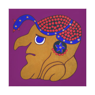 MAYAN SPIRIT HURACAN- PURPLE BACKGROUND CANVAS PRINT