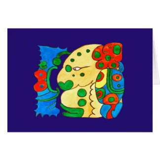 MAYAN SPIRIT IQUI BALAM- BLUE BACKGROUND CARD