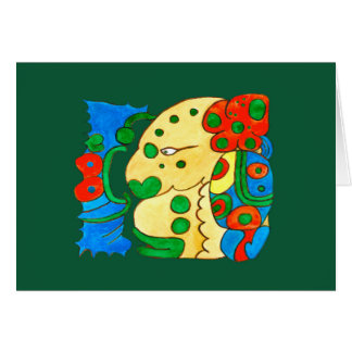 MAYAN SPIRIT IQUI BALAM- GREEN BACKGROUND CARD