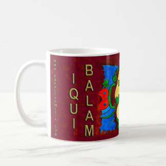 MAYAN SPIRIT IQUI BALAM- MIDNIGHT RED- MAYAN GOLD. COFFEE MUG