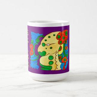 MAYAN SPIRIT IQUI BALAM- PURPLE- MAYAN RIVERA COFFEE MUG