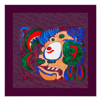 MAYAN SPIRIT KAI YUM- PURPLE AND PURPLE BACKGROUND POSTER