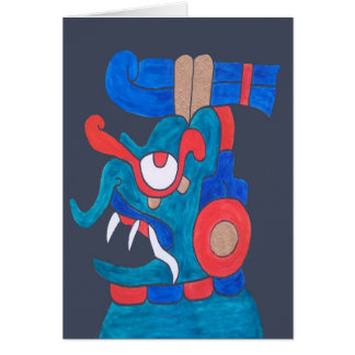 MAYAN SPIRIT ZOTZ- CHARCOAL GREY BACKGROUND CARD