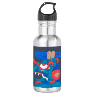 MAYAN SPIRIT ZOTZ, GREY BACKGROUND, CANCUN 532 ML WATER BOTTLE