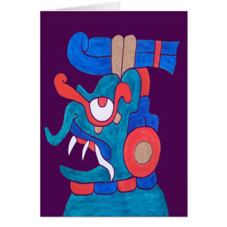 MAYAN SPIRIT ZOTZ- MIDNIGHT PURPLE BACKGROUND CARD
