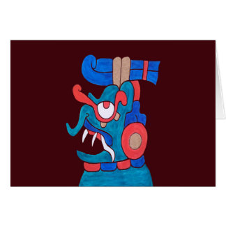 MAYAN SPIRIT ZOTZ- MIDNIGHT RED BACKGROUND CARD