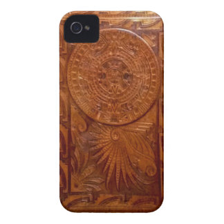 Mayan tooled leather style iphone Case-Mate iPhone 4 cases