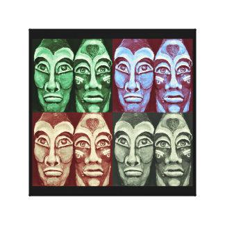 Mayan warriors canvas print