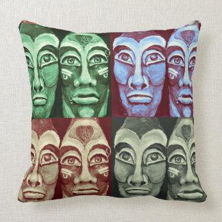 Mayan warriors cushion