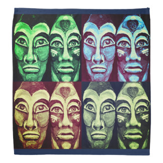 Mayan warriors - surrealism design bandana