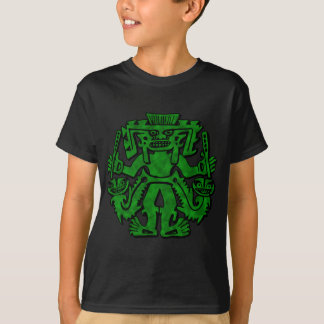 Mayan With Clubs Green T-Shirt