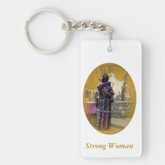 Mayan Woman in Panajachel Guatemala Key Ring