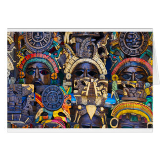Mayan Wooden Masks for Sale Card
