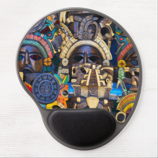 Mayan Wooden Masks for Sale Gel Mouse Pad
