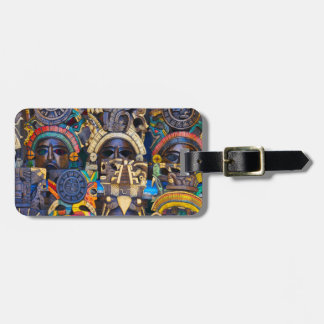 Mayan Wooden Masks for Sale Luggage Tag