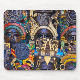 Mayan Wooden Masks for Sale Mouse Pad