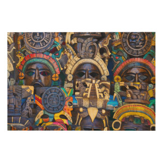 Mayan Wooden Masks for Sale Wood Wall Decor