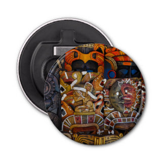 Mayan Wooden Masks in Mexico Bottle Opener