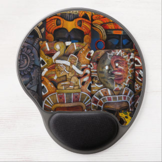 Mayan Wooden Masks in Mexico Gel Mouse Pad