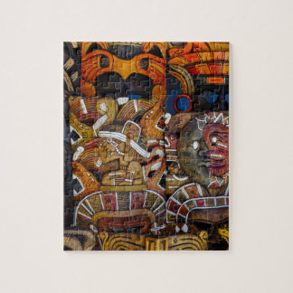 Mayan Wooden Masks in Mexico Jigsaw Puzzle