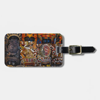 Mayan Wooden Masks in Mexico Luggage Tag