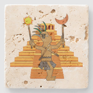 MayanPop Stone Beverage Coaster