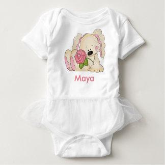 Maya's Personalized Bunny Baby Bodysuit