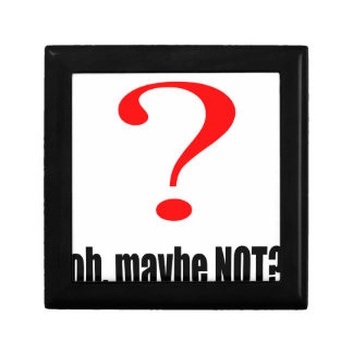 maybe suggestion afraid possibility black note mar small square gift box