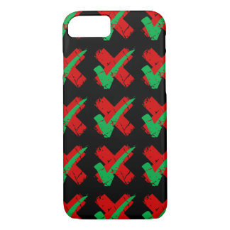 Maybe Tick and Cross Pattern iPhone 7 Case