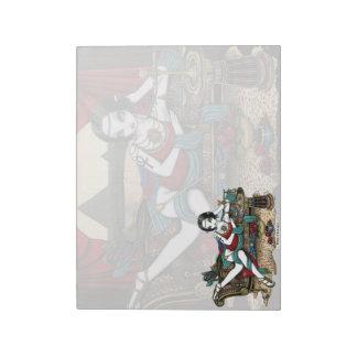 Mayet Egyptian Goddess Maat Angel Art Notepad