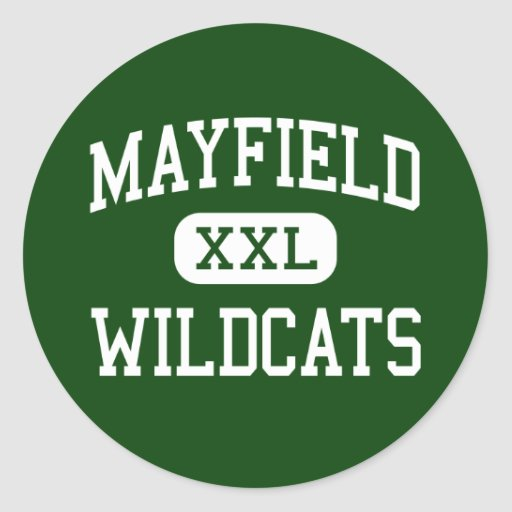 Mayfield - Wildcats - High School - Cleveland Ohio Round Stickers