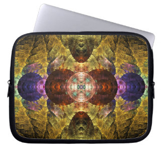 Mayflower Abstract Geometric Fractal Laptop Computer Sleeve