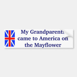 Mayflower Bumper Sticker
