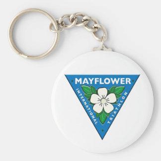 Mayflower International Triathlon Basic Round Button Key Ring