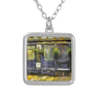 Mayflower Pub London Van Gogh Silver Plated Necklace