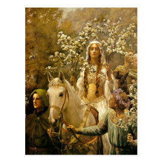 Maying of Queen Guinevere Postcard
