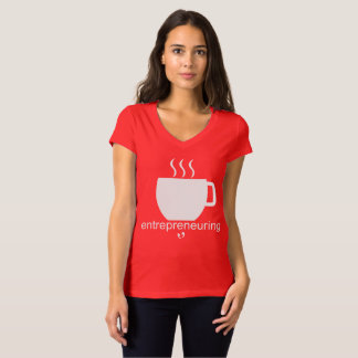 Mayniax Branding Entrepreneuring Women's Red T-Shirt