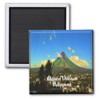 """Mayon Volcano, Albay Philippines """"3d"""" Magnet"""